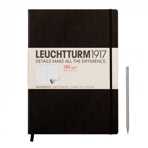 Leuchtturm1917 A4 Schetsboek Zwart