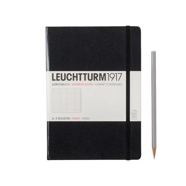 Leuchtturm1917 Adresboek Zwart Middelgroot