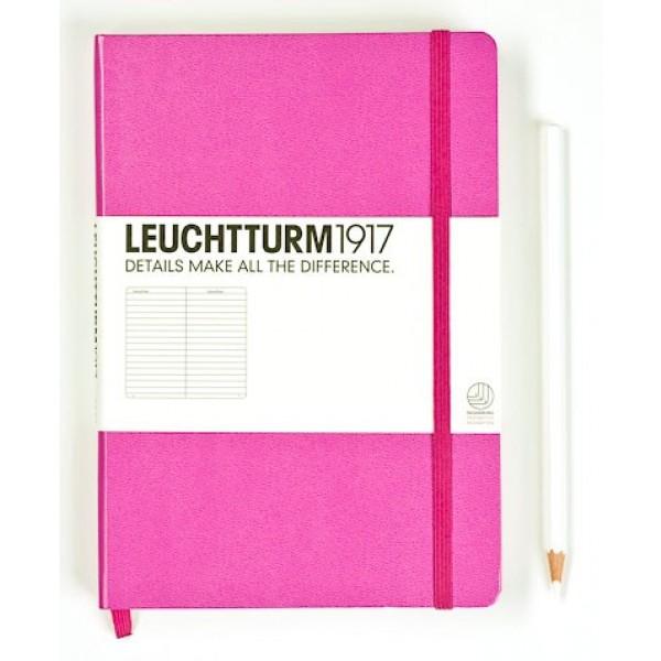 Leuchtturm1917 Medium Notitieboek Gelinieerd Zuurstokroze