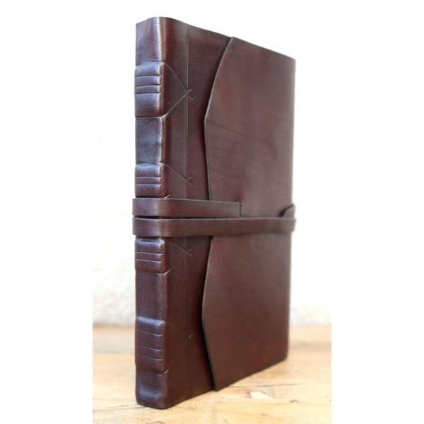 Modena Leren Notitieboek Chocoladebruin Met Handgeschept Papier