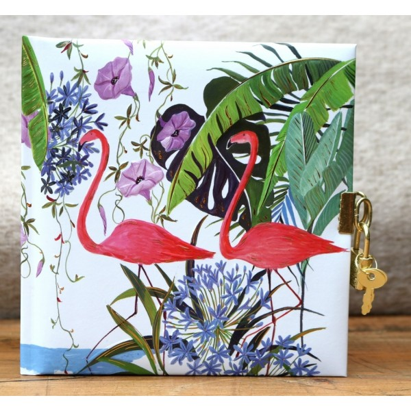 Dagboek Met Slot Flamingo's