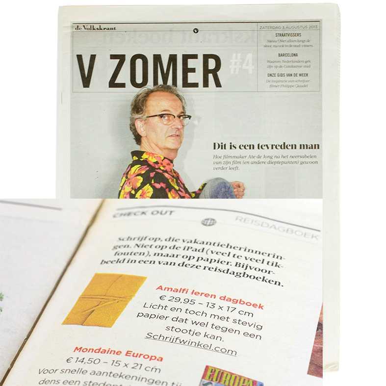 Schrijfwinkel.com in Volkskrant Zomer